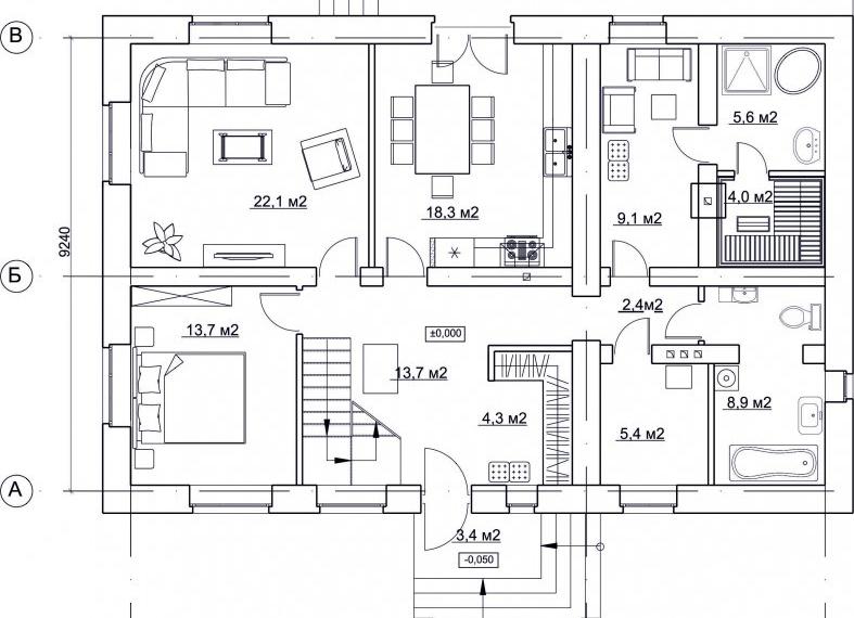 Дом 180 кв.м в п.Царицыно