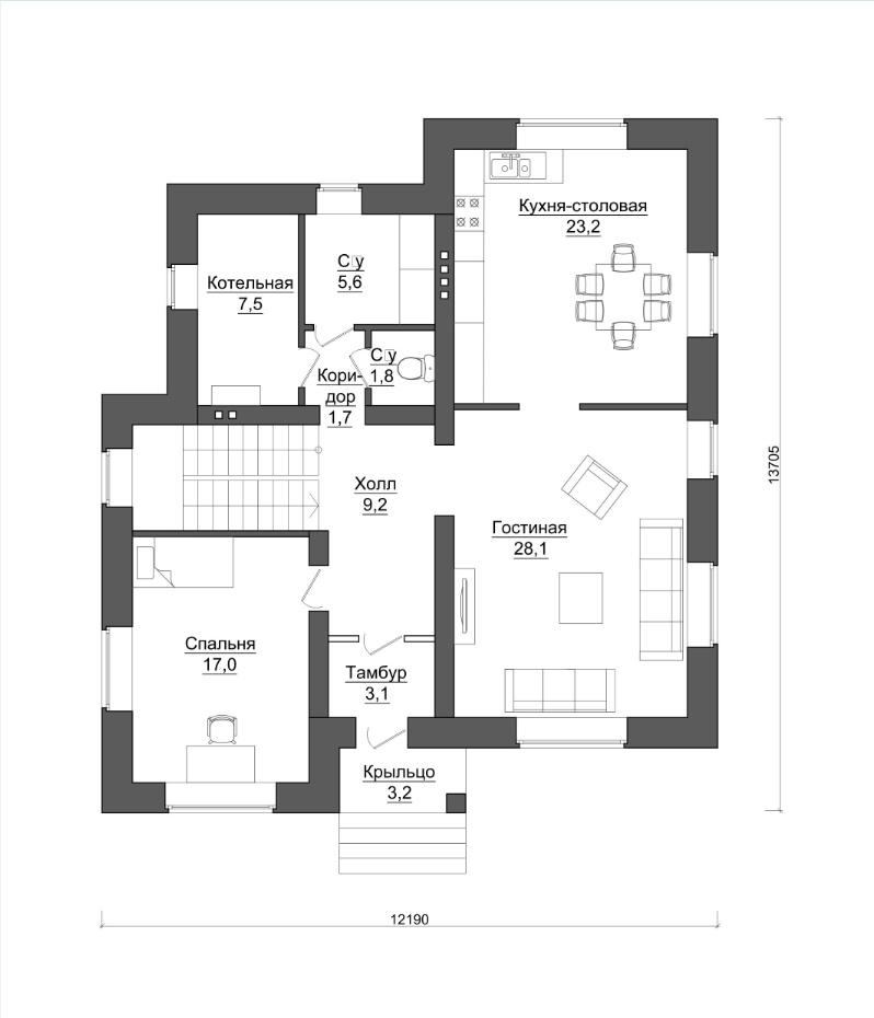 1 этаж